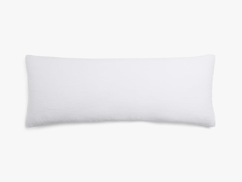 "54"" Linen Body Pillow- White"