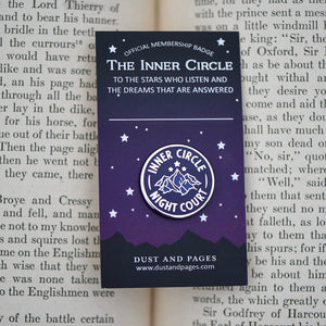Inner circle night court member a court of mist and fury mountain enamel pin