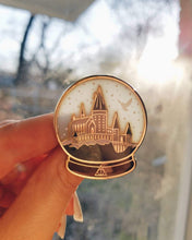 Load image into Gallery viewer, Castle Snow globe enamel pin