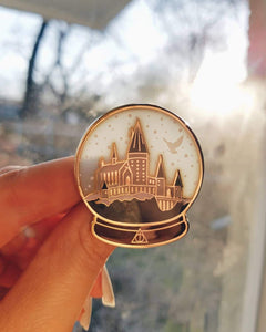 Castle Snow globe enamel pin