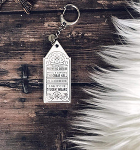 Ticket to the Yule Ball Keychain