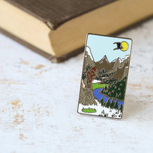 Load image into Gallery viewer, Terrasen Literary Landscapes hard enamel pin
