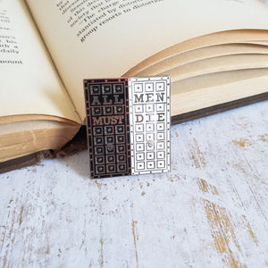 Arya game of thrones house of black and white door all men must die enamel pin