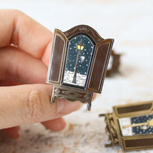 Load image into Gallery viewer, The lion the witch and the wardrobe snowy lantern in the wardrobe narnian enamel pin