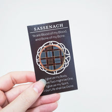 Load image into Gallery viewer, Sassenach/Fraser tartan pin