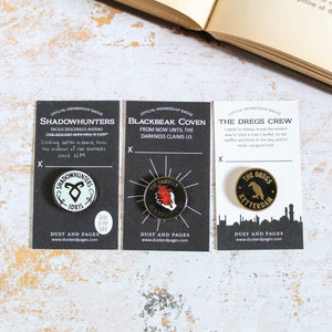 The Thirteen Blackbeak membership enamel pin