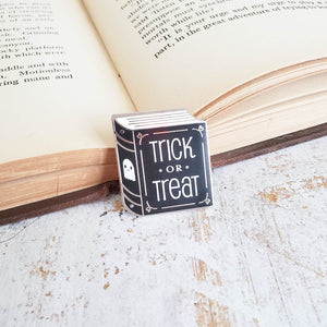 Trick or Treat halloween season kawaii ghost enamel pin