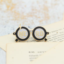 Load image into Gallery viewer, Wizardry and witchcraft magic boy black nerd glasses enamel pins