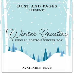 Snowy winter landscape for dust and pages winter beast box