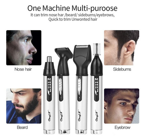 Multi function Portable Nose Hair Trimmer - Rechargeable Mini Nose ear Hair Shaver