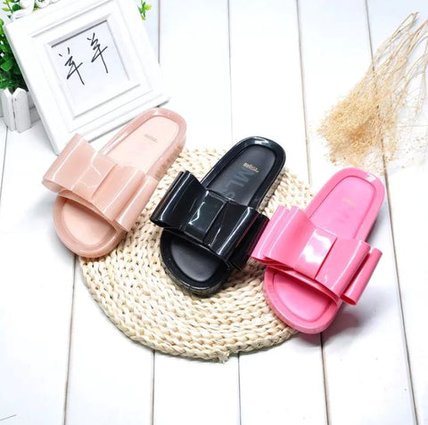 Melissa Beach Sandals Bow Jelly Flip Flop Slides