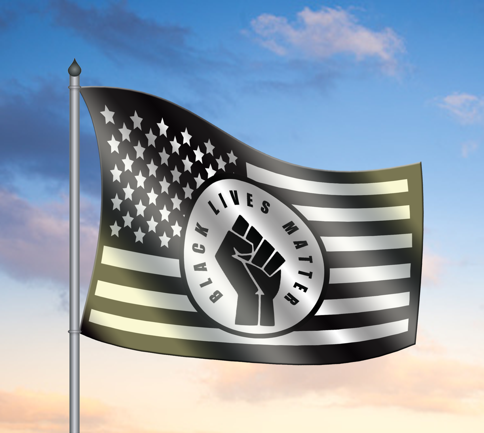 Black Lives Matter Flag - Anti Racism Flag