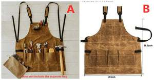 Oil Waxed Canvas Retro Apron