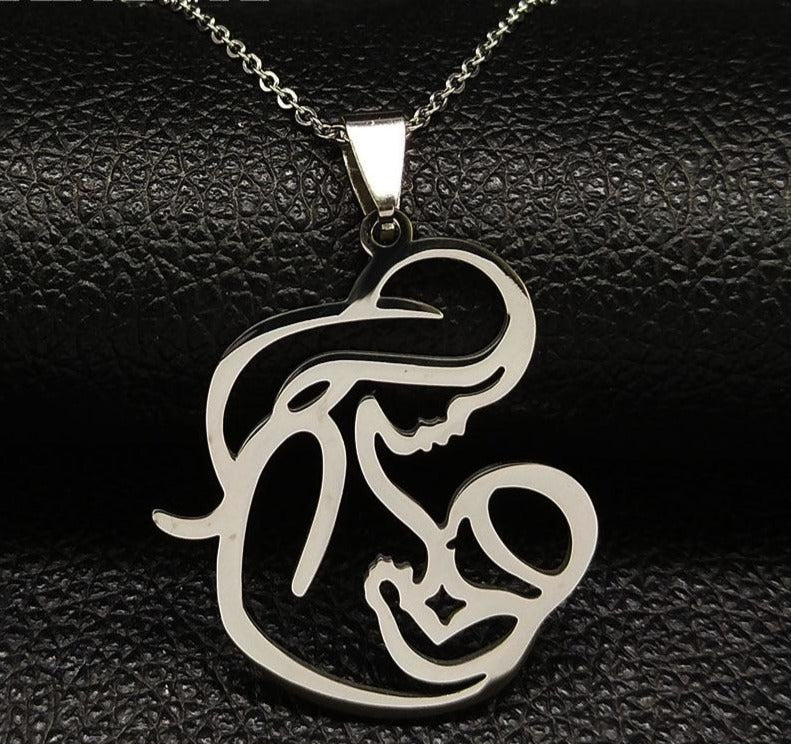 Family Mom BABY Stainless Steel Necklace