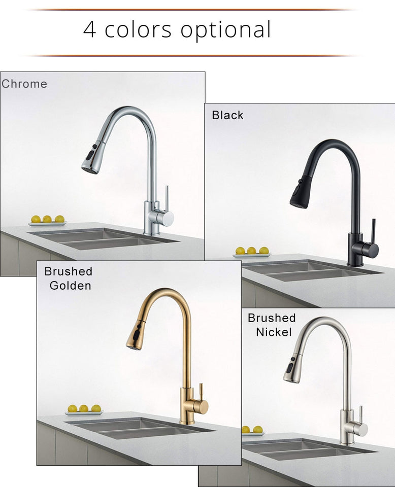 Brushed Nickel Faucet - Pull Out Faucet