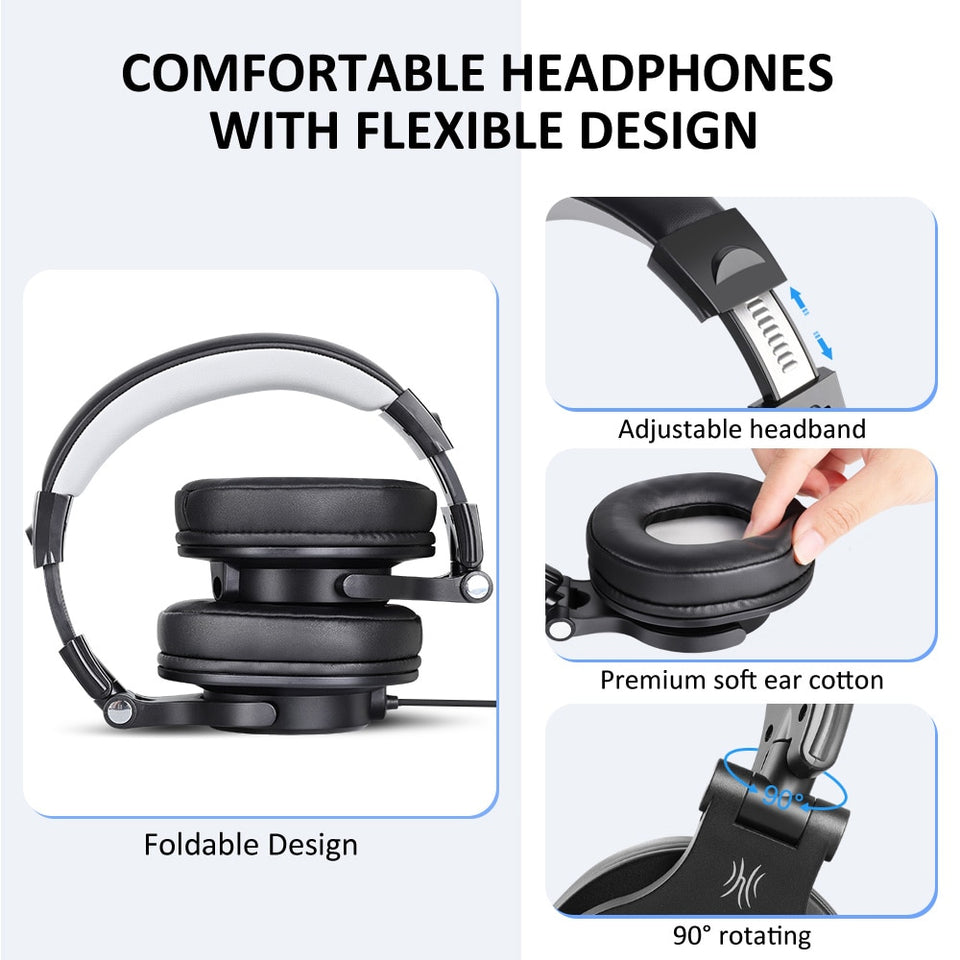 Oneodio Wired Gaming Headset With Detachable Microphone