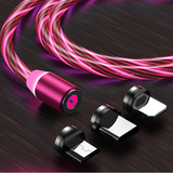 Magnetic Flow Luminous Lighting Charging Mobile Phone Cable Cord