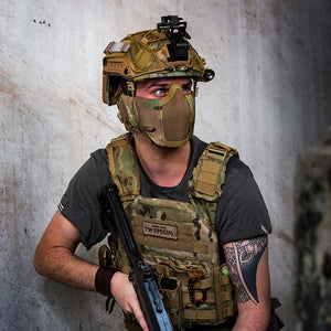 Tactical Foldable Mesh Mask With Ear Protection