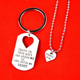 Father Daughter Set Heart Puzzle Necklace