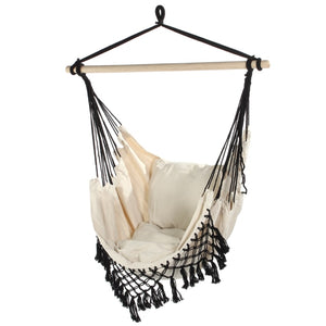 130 x100 x100cm Nordic style Home Garden Hanging Hammock Chair Outdoor Indoor Dormitory Swing Hanging Chair with Wooden Rod