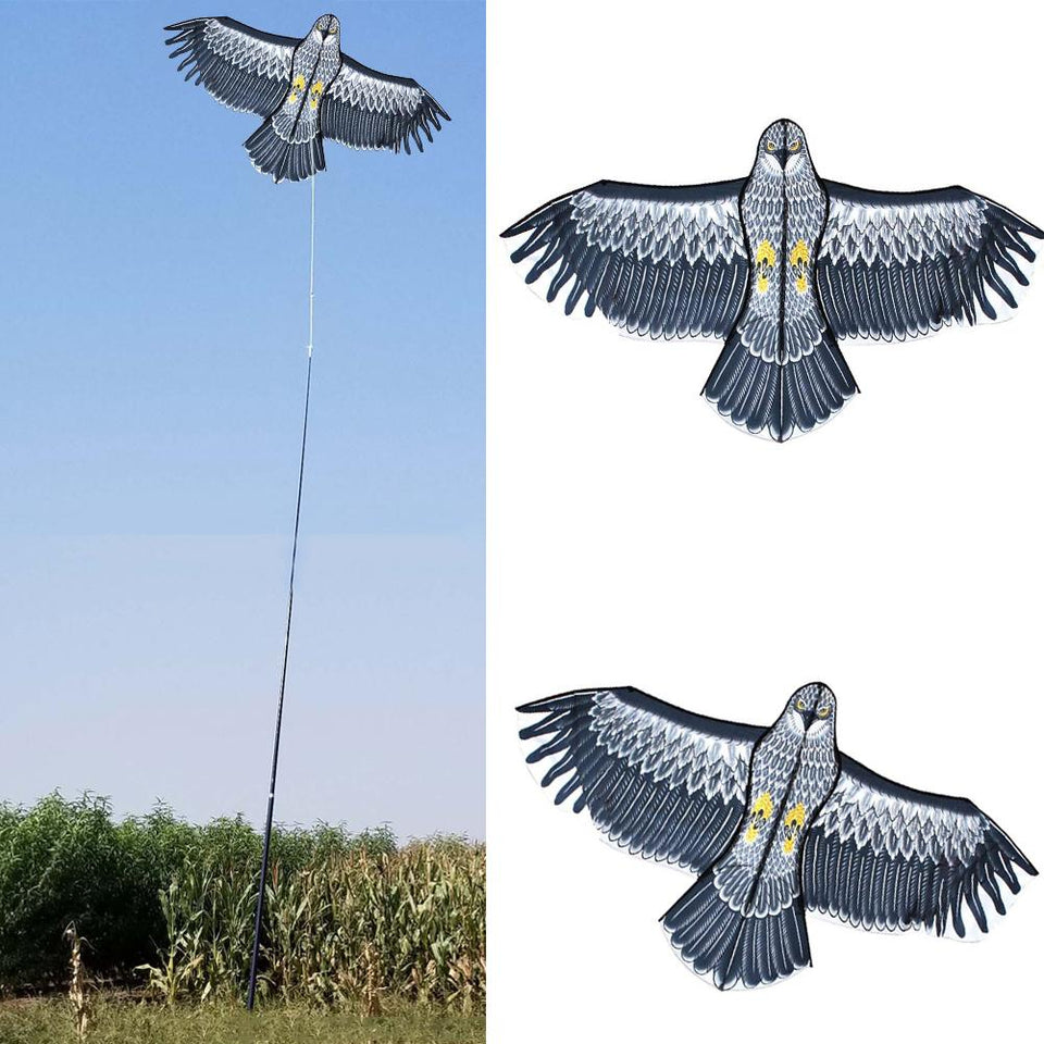 Emulation Flying Drive Bird Repellent Kite With 2M Kite Line Lightweight Easy To Assemble Bird Kite For Garden Yard Farm