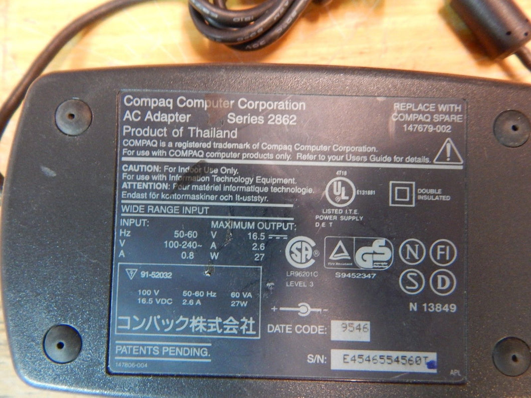 COMPAQ 147679-002 CONTURA AC ADAPTER SERIES 2862