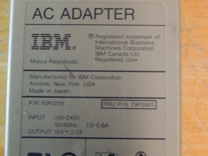 IBM  65F0218/79F0993 15V 2.7A AC Power Adapter