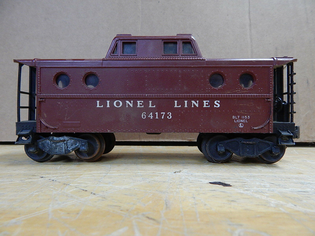 Lionel O Scale Lionel Lines Caboose w/light #64173  Sold AS-IS