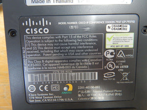 Cisco Polycom IP Conference Station CP-7937G - NO POWER SUPPLY