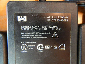 HP AC Power Adapter For OfficeJet Printers C7296-60024 31.5v 3.17a LOT 8 UNITS