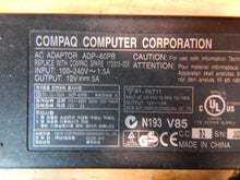 Load image into Gallery viewer, Compaq Computer Ultra Slim ADP-60PB 12V 5A OUTPUT/ SPARE 173315-001 Power Supply