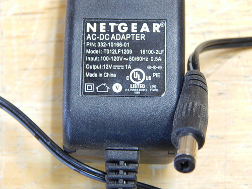 Netgear Router 12V AC DC Adapter Power Cord 332-10166-01 T012LF1209