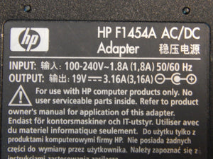 HP AC/DC Power Supply 100-240V 1.5A 50-60Hz 19V 3.16A - HP F145A
