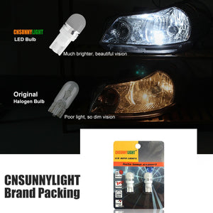 2pcs T10 W5W 194 168 LED Car Parking Side Signal Light License Plate Bulb Interior Reading Wedge Dome Turn Lamp12V