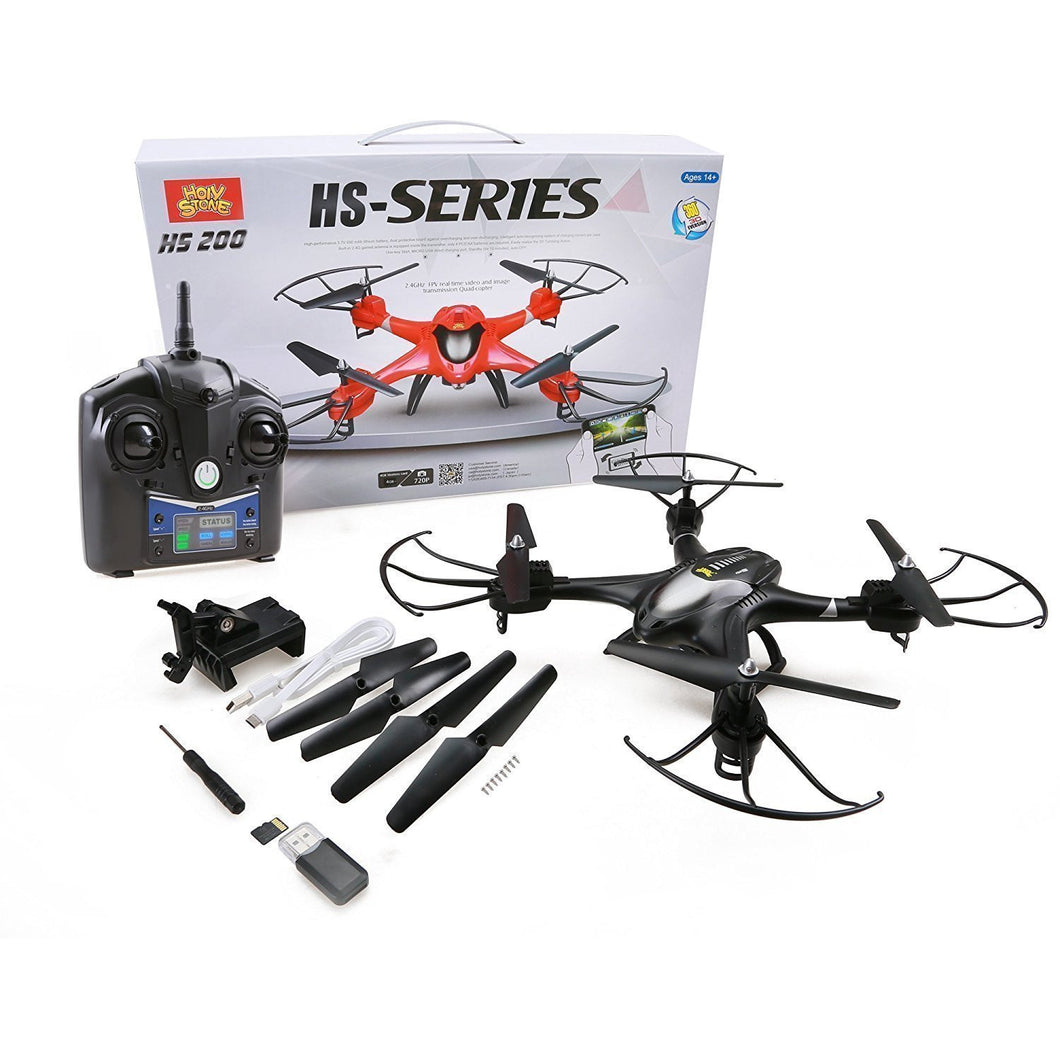 Holy Stone HS200 RC Drone with FPV HD Wifi Camera Live Feed 2.4GHz 4CH 6-Axis Gyro Quadcopter
