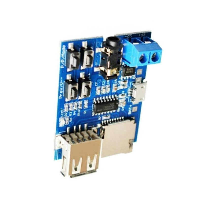 Mp3 Lossless Decoder Board MP3 Decoder TF Card U Disk MP3 Decoder Player Module Comes with Amplifier