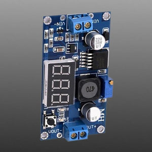 LM2596 DC DC Adjustable Buck Module with Digital Voltmeter LM2596S Regulated Power Module