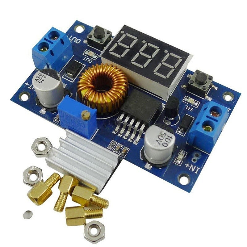 5A High power 75W DC DC Adjustable Buck Power Supply Module with A Voltage Meter