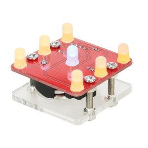 DIY Swing Shaking LED Dice Kit Module with Small Vibration Motor
