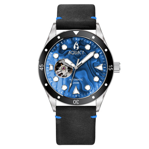 Aquacy Cave Diver Blue Mother of Pearl Dial