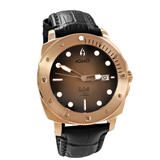 Aquacy Bronze CuSn8 Series Automatic Men's 200m Watch 44mm Black/Brown Dial