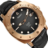 Aquacy Bronze CuSn8 Series Automatic Men's 200m Watch 44mm Black/Gray Dial