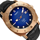 Aquacy Bronze CuSn8 Series Automatic Men's 200m Watch 44mm Black/Blue Dial