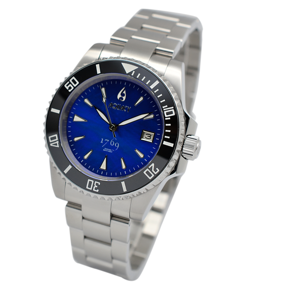 Aquacy 1769 Hei Matau Men's Automatic 300M Blue Diver MOP Watch  ETA 2824 1769.BLMP.B.S.ET