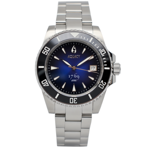 Aquacy 1769 Hei Matau Men's Automatic 300M Vintage Blue Black Dive Watch Miyota 9015 1769.BLB.B.S