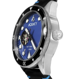 Aquacy Hei Matau Cave Diver Open Heart Men's Automatic 200M Blue Mother of Pearl Dive Watch CD.38.BLMOP.B.L