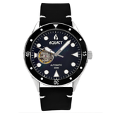 Aquacy Hei Matau Cave Diver Open Heart Men's Automatic 200M Black Mother of Pearl Dive Watch CD.38.BKMOP.B.L