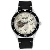 Aquacy Hei Matau Cave Diver Open Heart Men's Automatic 200M White of Pearl Dive Watch CD.38.WHMOP.B.L