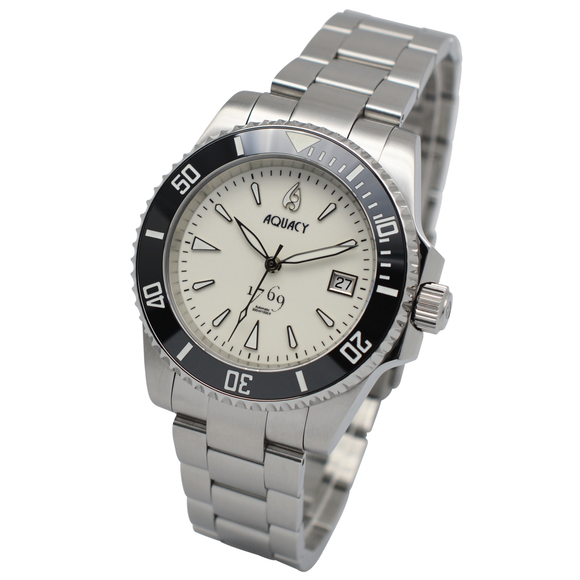 Aquacy 1769 Hei Matau Men's Automatic 300M Full Luminous Dive Watch ETA 2824 1769.FLM.B.S.ET
