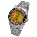 Aquacy 1769 Hei Matau Men's Automatic 300M Vintage Orange/Yellow Dive Watch ETA 2824 1769.OY.B.S.ET